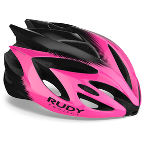 Rudy Project Rush Casque, pink fluo/black shiny